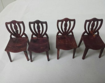 Set of Four Jaydon Dining Room Chairs 1 inch scale