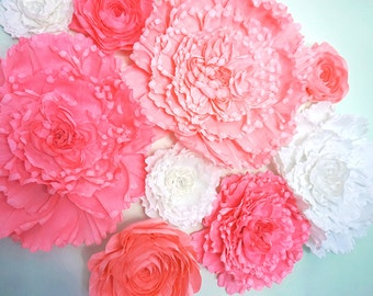 9 Piece Giant Crepe Paper Flower Set