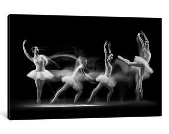 iCanvas Ballerina Art Wave Gallery Wrapped Canvas Art Print by Antonyus Bunjamin