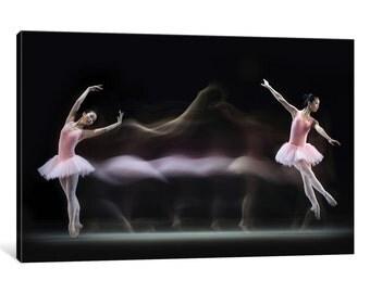 iCanvas Graceful Ballerina Gallery Wrapped Canvas Art Print by Antonyus Bunjamin