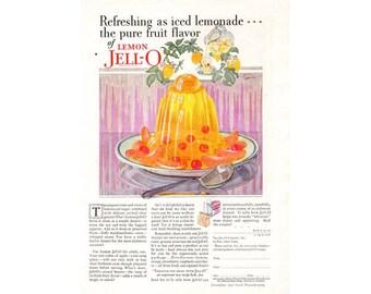 Instant Download Printable Art, Lemon Jell-O, Jello, Kitchen Decor, Retro, Food, Premium, Wall Art Decor, Digital Download Print