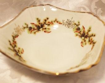 Vintage Trimont Ware Bowl. Decorative Gold trimmed Bowl