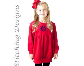 Infant Monogram Sweatshirt, Bubble sweatsshirt,  Sizes 12 Mos & 18 Mos, 2 colors available