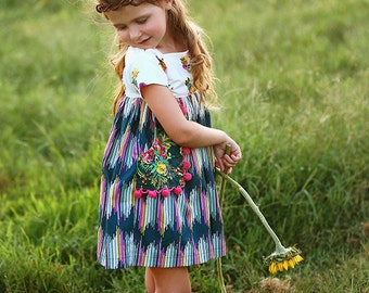 Luna Top Dress PDF Pattern & Tutorial, All sizes 2-10 years included