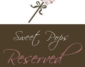 Reserved listing for Bridgette Adkins ONLY - 72 Cake Pops