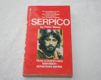 Vintage Paperback Book Serpico By Peter Maas 1976 1970s Movie Television Series