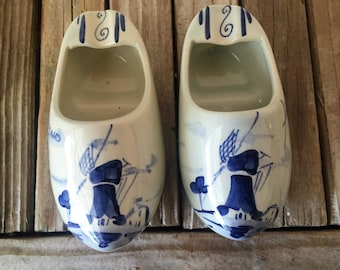 Vintage Delft Holland Ashtrays