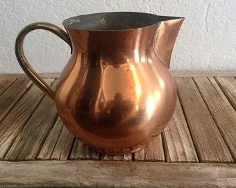 Vintage Copral Copper Pitcher Made in Portugal