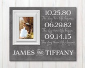 Personalized Special Dates Picture Frame, Custom Picture Frame With Wedding Date, Important Dates Picture Frame, Wedding Anniversary Frame