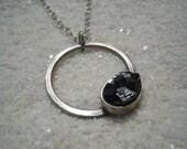 Andradite Garnet Necklace Artisan Jewelry Black Garnet Pendant
