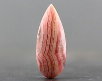 Designer Gemstones Flat Back Argentina Pink Rhodochroiste Cabochon Natural Gem Cabochon Stone Wire Wrapping Healing Stone (CA4980)
