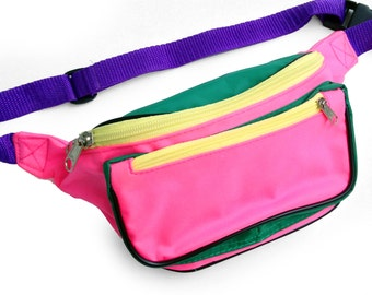 Stellar 80s Quad Color Block Fanny Pack - 24 to 36