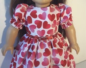 Valentine 18 Inch Doll Clothes DRESS With Hearts