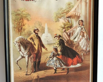 Vintage Poster, Emporium of Fashion, Broadway, New York, Lithograph, Home Decor,Wall Hanging