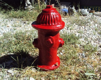 Fire Hydrant, Stone Sculpture, Yard Art, Dog Toy, Dog, Fireman, Shipping Included