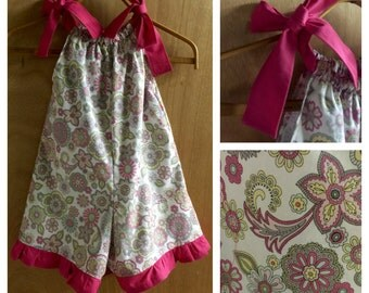 Pillowcase Shorts Romper, Girls size 5