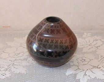 Signed Polly Rose Folwell Santa Clara Native American Pueblo Pottery Vase