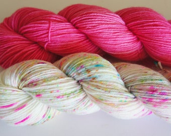 Duets...Mermaids and Unicorns, A set of 2 (50g) skeins, Fingering Sock Weight