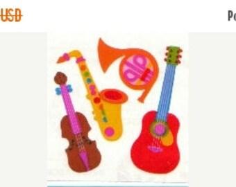 ON SALE Vintage Sandylion Pearl Finish Musical Instrument Stickers 80's Opal Rainbow Guitar Horn Saxophone Violin Fiddle