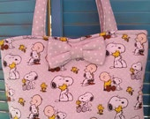 Charlie Brown and Snoopy Tote Bag