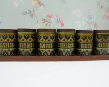 Unique Vintage Spice Rack Related Items Etsy