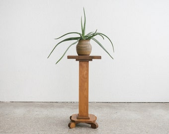Pedestal Plant Stand / Side Table