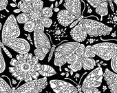 Color Me Papillon Paisley on Black from Michael Miller's Color Me 3 Fabric Collection