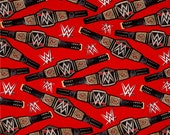 WWE World Heavyweight Championship Belt on Red From Springs Creative