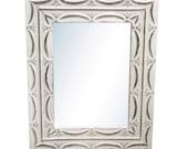 Ribbons 4.5 in. tin framed mirror