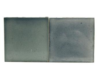 Set of blue Lerax ceramic tiles