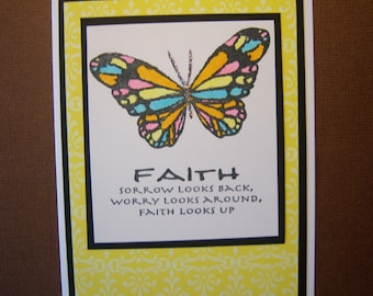 Mosaic Butterfly Encouragement Card
