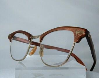 Vintage Full Frame Retro Ladies Shuron Eyeglasses 12k 1/10 Gold Filled Perscription Eyewear Glass Installed DanPickedMinerals