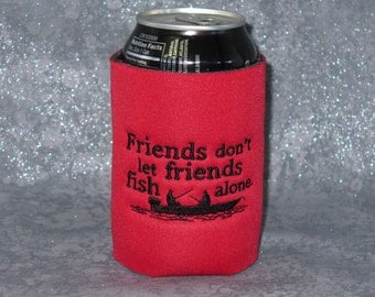Can Cooler, Friends Fishing, Can Cozy