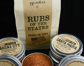 Gusto's Original RUBS of the STATES for Grilling, Barbecuing and Smoking