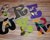 Reserved For Ceara Nightmare Before Christmas Inspired Hand Painted Letters ***MESSAGE BEFORE ORDERING***