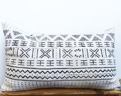 BAMAKO White Mudcloth Pillow Covers