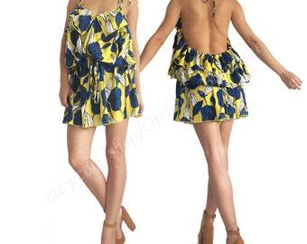 Oversized jumpsuit / Women jumpsuit/ Women romper/ Short jumpsuit/ Playsuit/ overall / loose jumpsuit/ convertible dress/backless LADYBUG