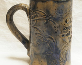 ceramic artisan coffee mug 16oz stoneware 16A057