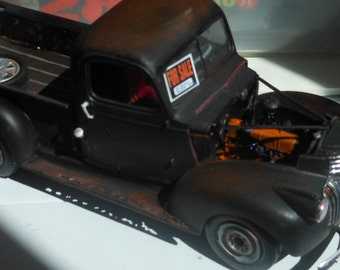1940s Chevy ,Scale Model,Black Truck,Classicwrecks,Rat Rod,Junkyard Dog