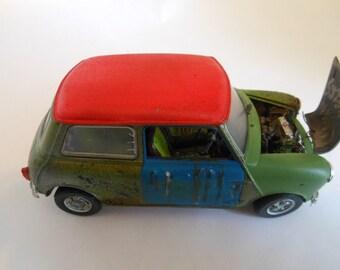 Rusted, Scale Model, Mini Cooper Car, Classicwrecks,Downton Abbey