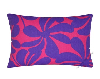 Purple and Candy Pink Twist Decorative Throw Pillow Cover / Pillow Case / Cushion Cover / Cotton / 12x18""