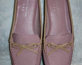 Vintage Ladies Pink Leather Mules Clogs by Covington Size 6 Only 8 USD