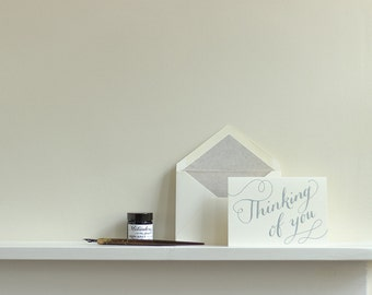 Thinking of You Letterpress Greetings Card
