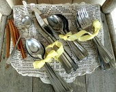Mid Century Stainless Steel Cutlery Set - Retro Silver Flatware by DavidCraft, Vintage Dinner Serving Ware, Mismatched Cutlery, 44 Piece Set