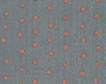 "Nani Iro Pocho ""Gift"", dark gray with copper, cotton double gauze fabric, by the yard"