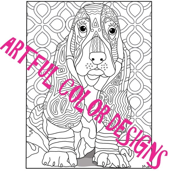 dog basset coloring pages - photo#35