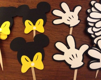 Mickey Mouse Cupcake Toppers, Party Decorations