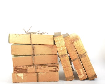 Distressed Old Books, Rustic Books, Old Book Display