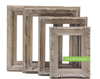 Champange Gold Picture Frames - Set of 4 - Wedding Frames & Shabby Chic Frames - Vintage Look!