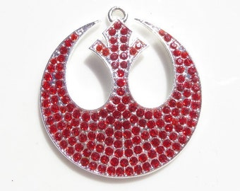 43mm*40mm  Star Wars Rebel Alliance Inspired Rhinestone Pendant, P19
